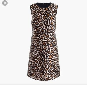 Gorg J. Crew leopard shift dress